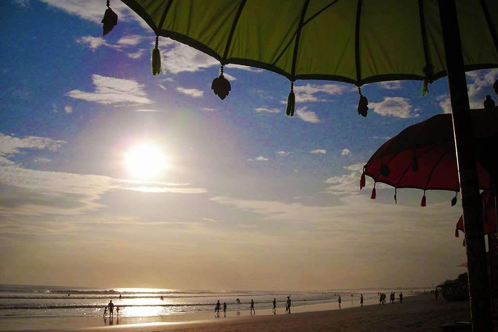 Sunset over Legian Beach