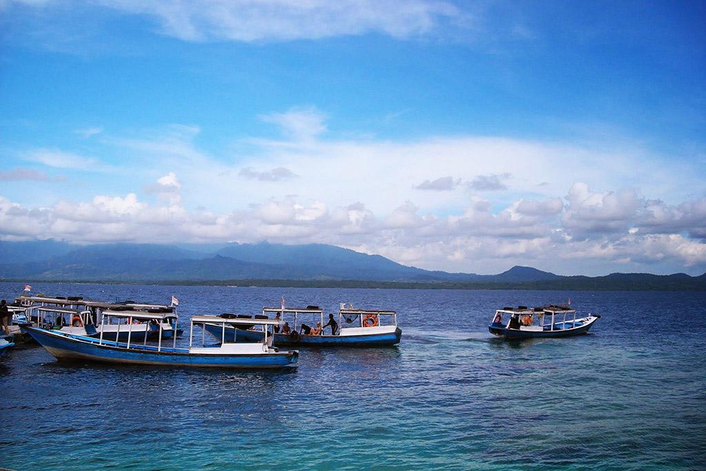 Boats at Menjangan islands
