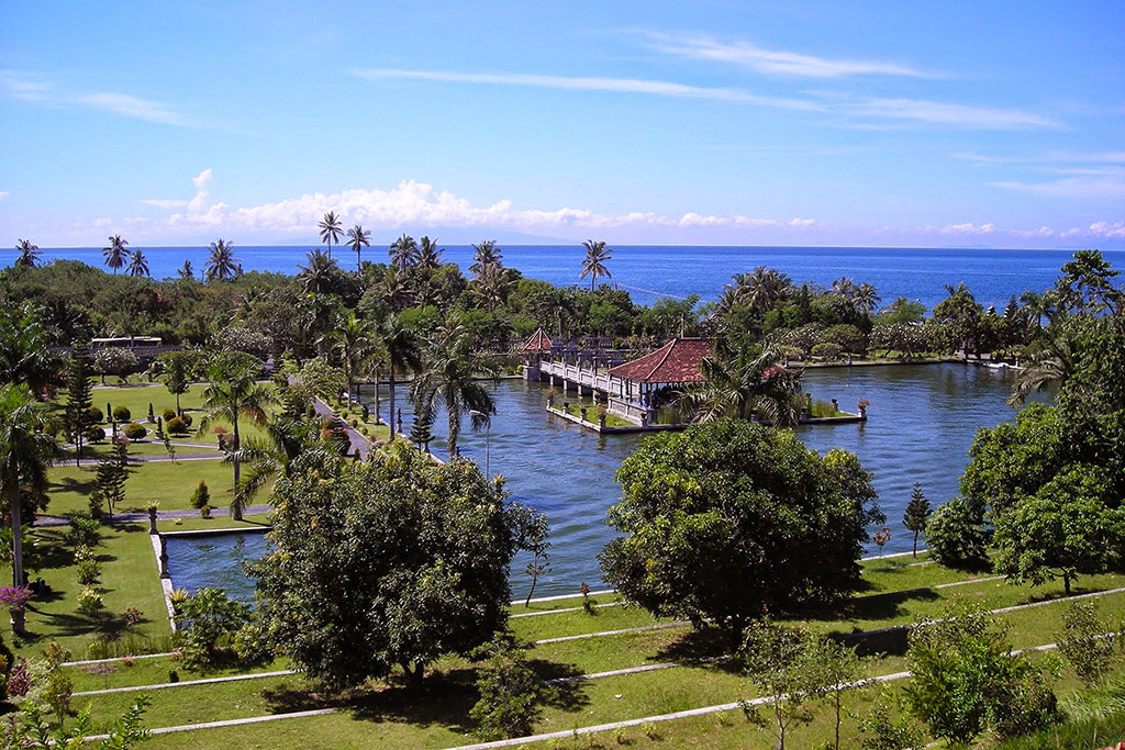 View of the Ujung Water Palace from the Balai Kapal