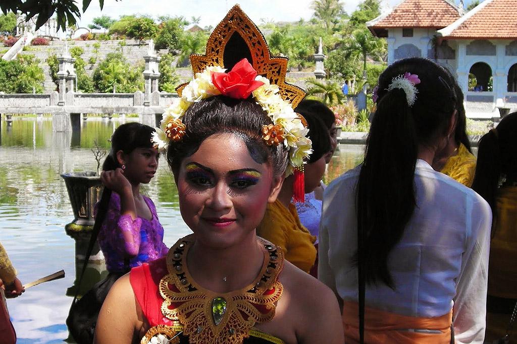 Girl at the Ujung Water Palace