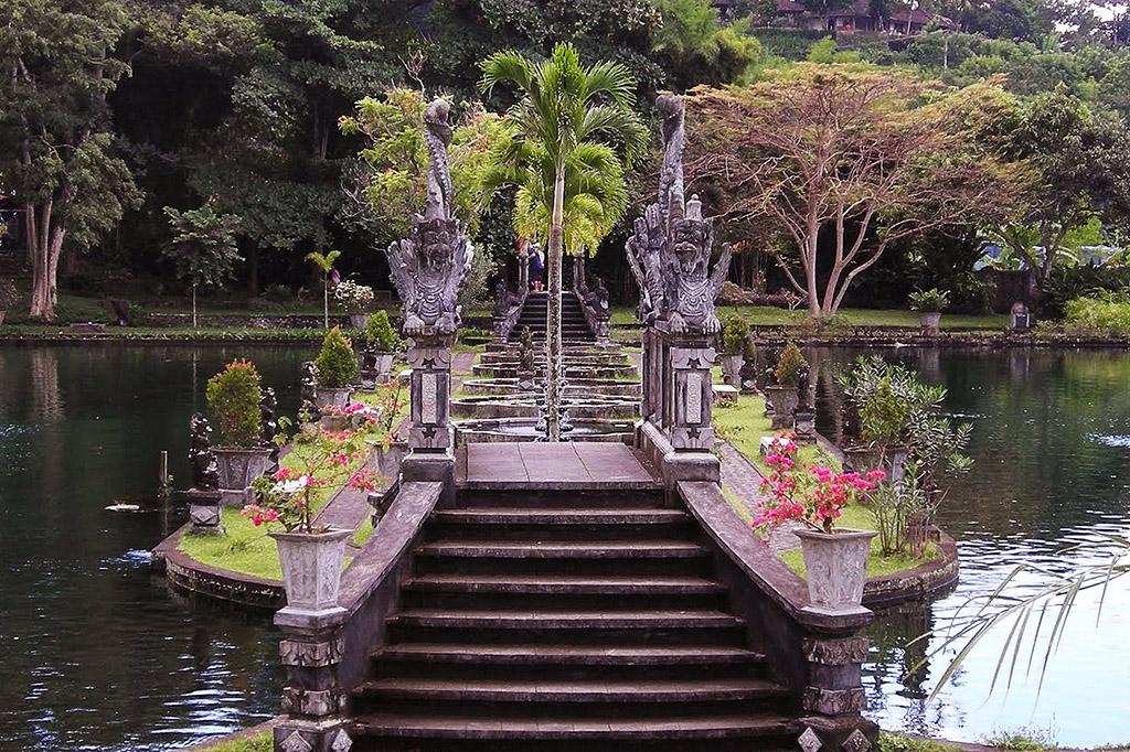 Pool and Bridge at Taman Tirta Gangga
