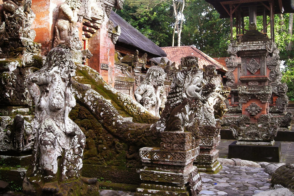Temple at the Monkey Forest in Ubud
