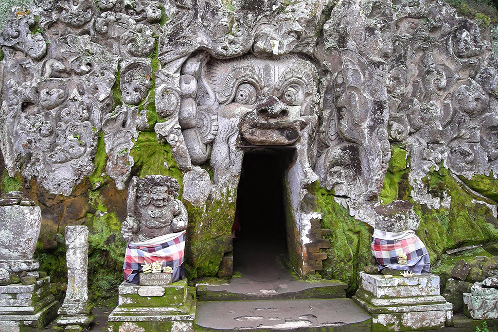 Goa Gajah cave temple on the outskirts of Ubud