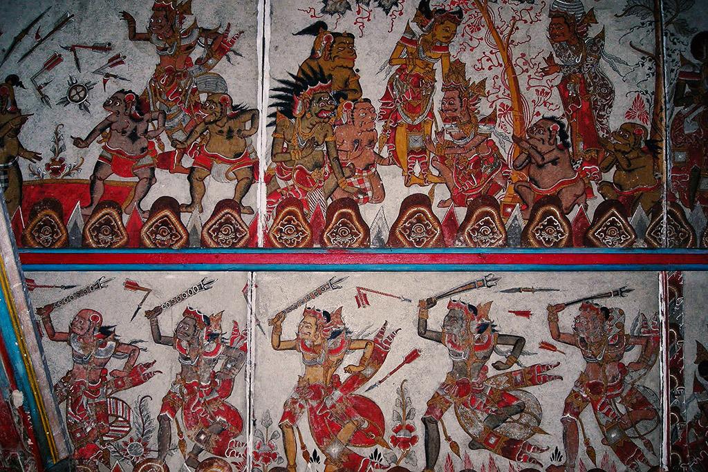Images at the Kertha Gosa close to Ubud