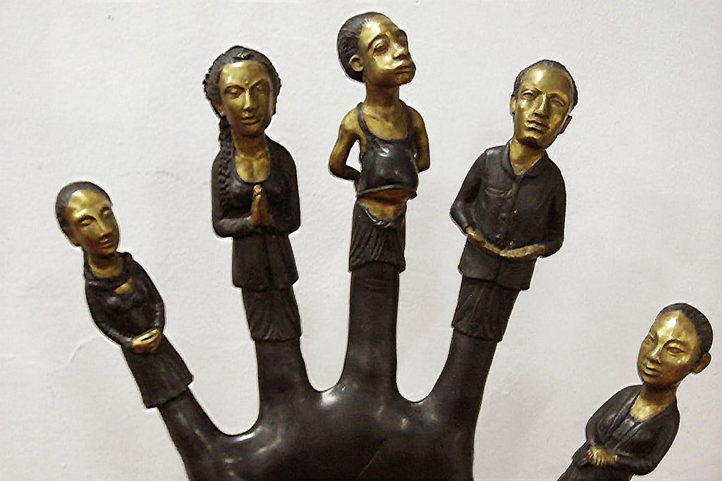 Diri Dalam Jari (The Self in each Finger) by Pande Ketut Taman at the Neka Art Museum in Ubud