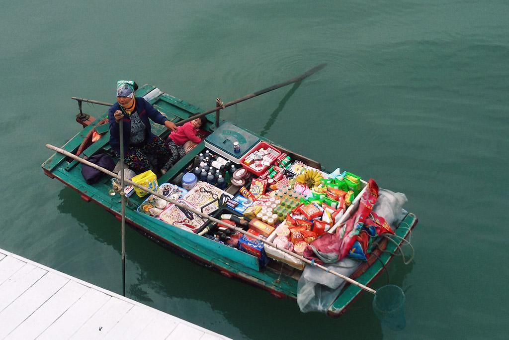 Vendor at the Halong Bay.