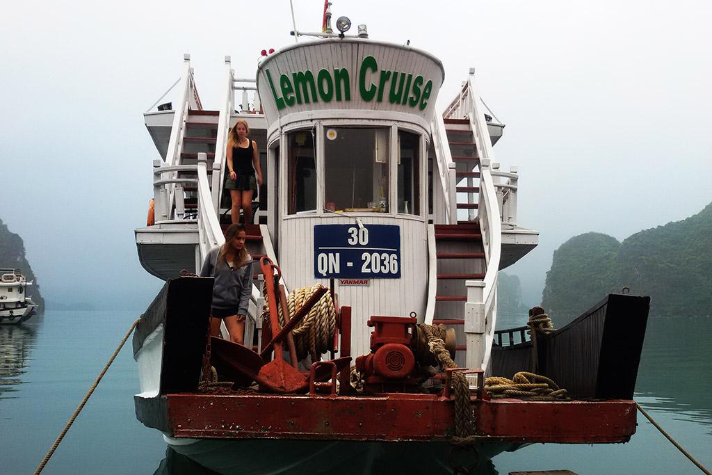 Cruise ship at the Halong Bay