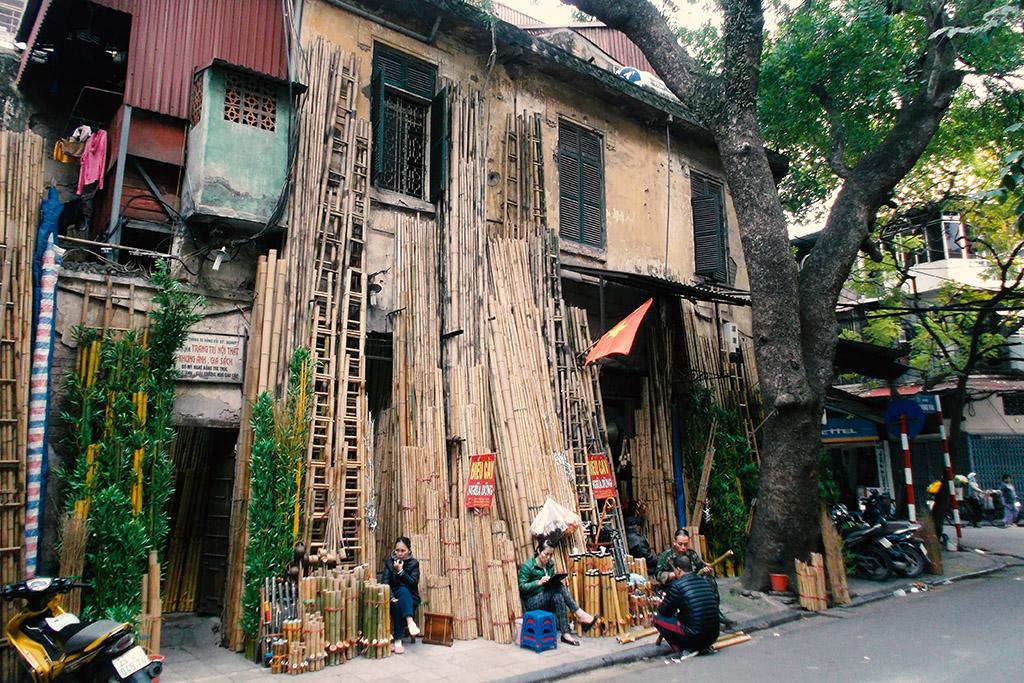 Bamboo store in Hanoi