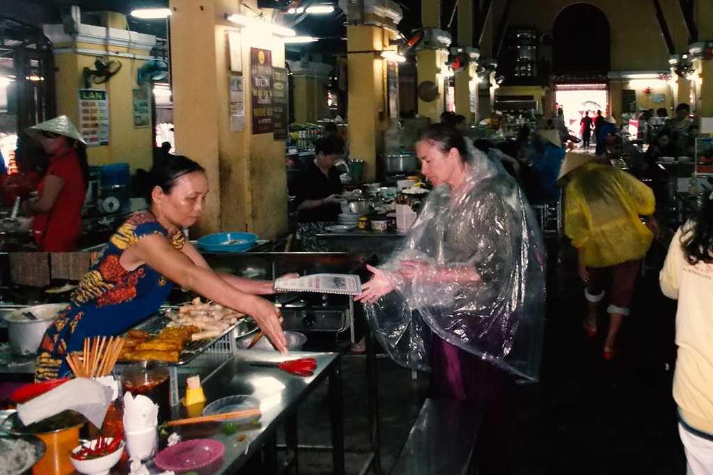 Food stall at the central market in Hoi An