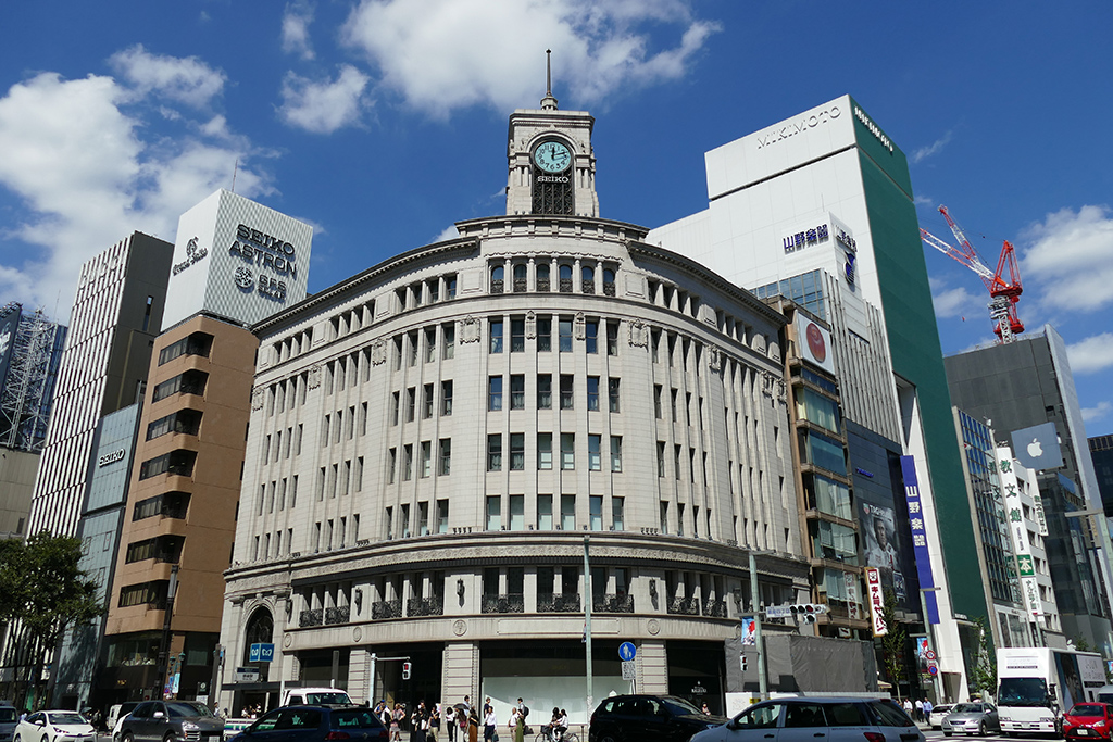 Wako retailer with the iconic clock tower – Ginza's most important landmark.