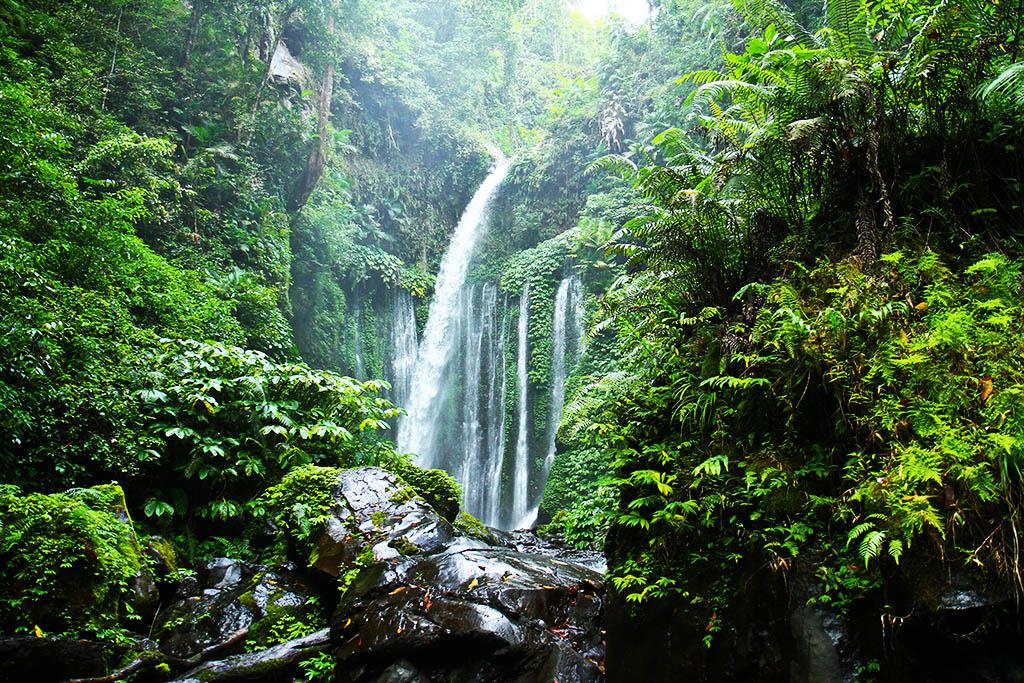 Tiu Kelep Waterfall on Lombok