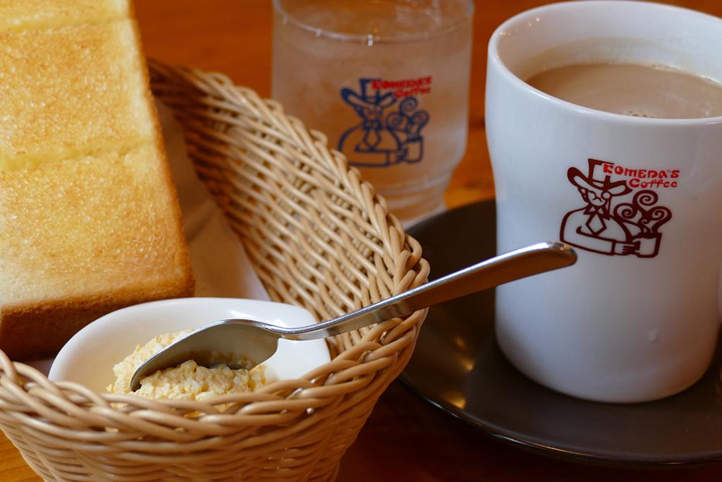 Breakfast in Kawaguchi-Ko in Japan