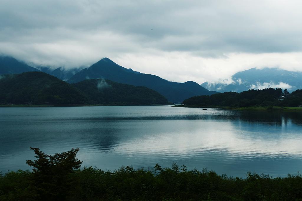 Lake Kawaguchi at Kawaguchiko close to Mount Fuji