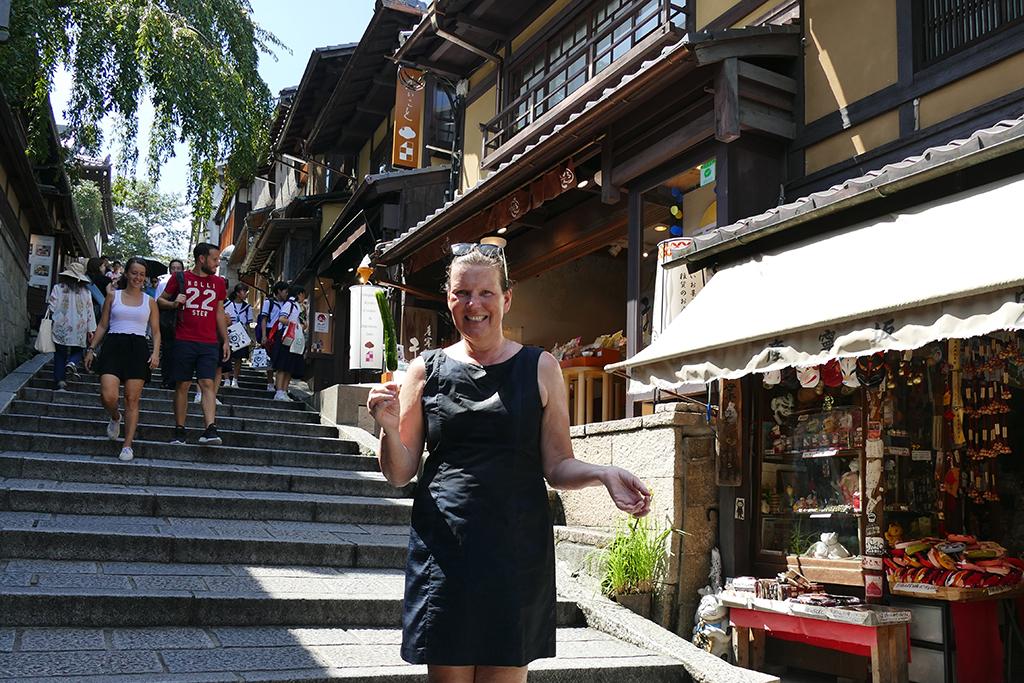 Renata Green at Sanneizaka in Kyoto