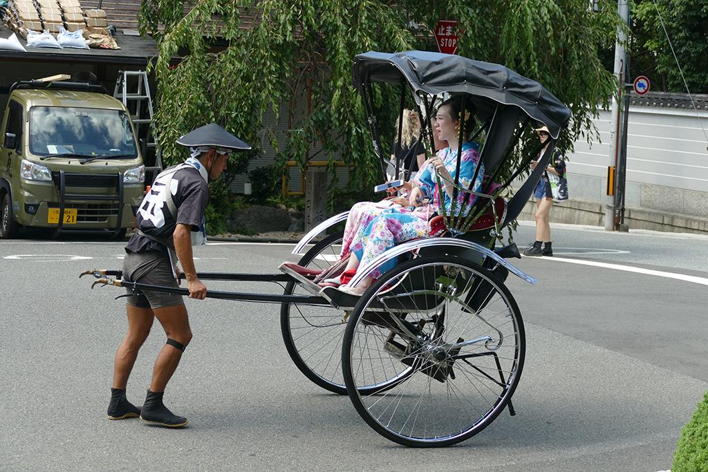 Two Geishas in a Rickshaw in 4 Days Kyoto Treasure Box of Japan