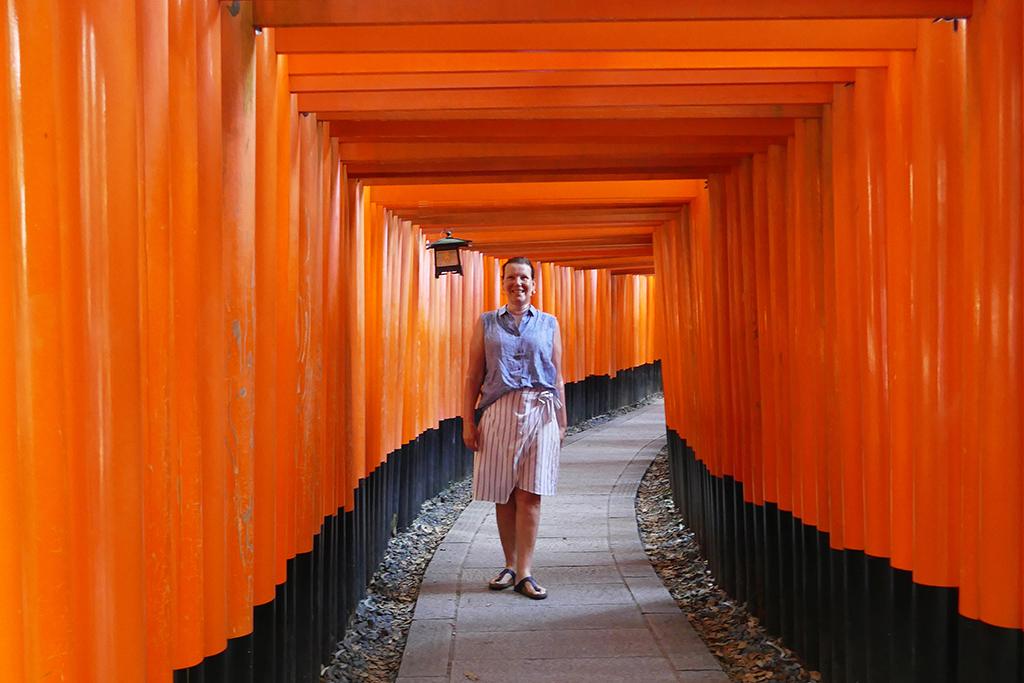 Renata Green at the Fushimi Inari-Taisha between Kyoto and Nara