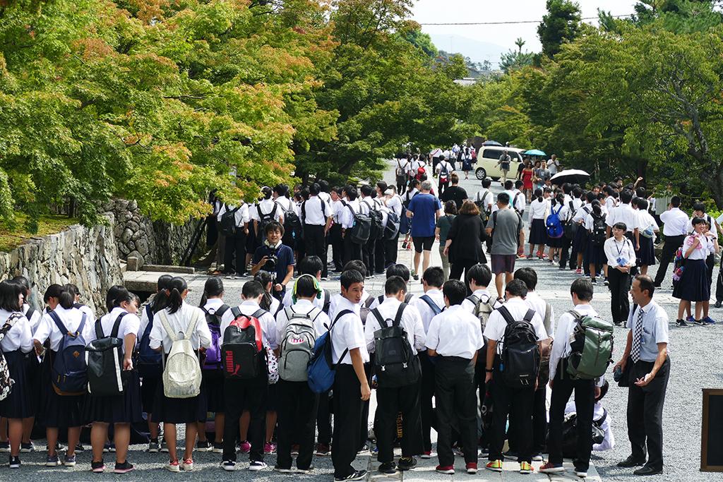 School Kids at Arashiyama, to be visited on 4 Days Kyoto Treasure Box of Japan