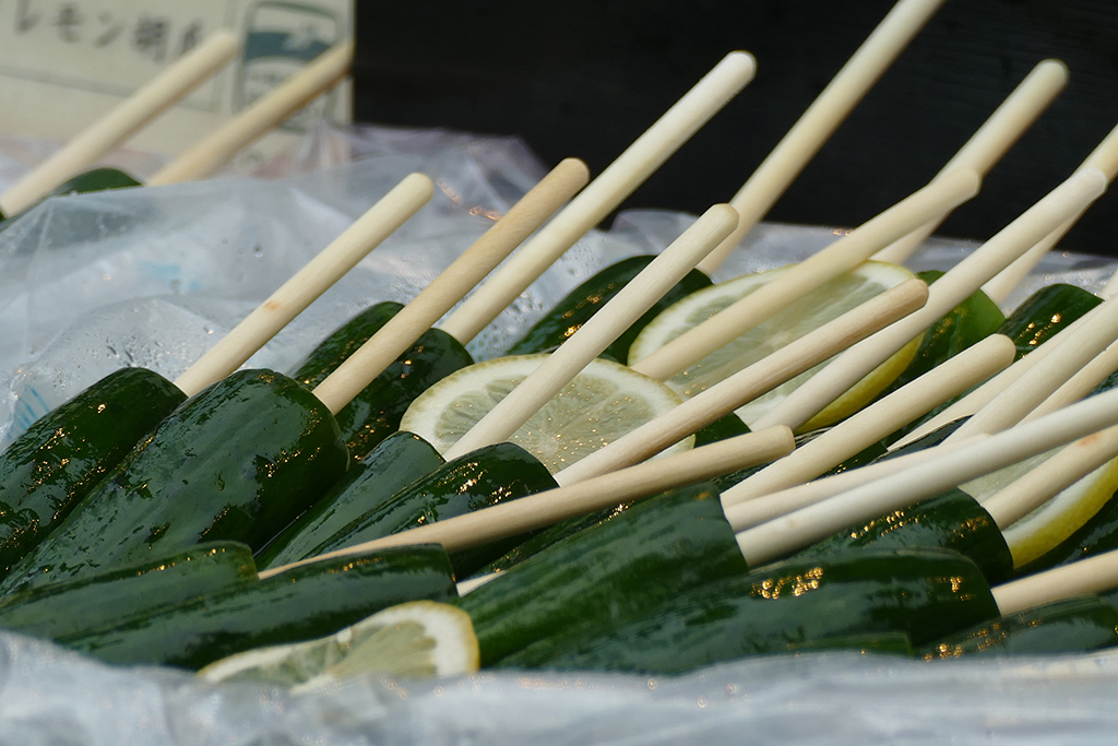 Tsukemono - Japanese pickled cucumbers