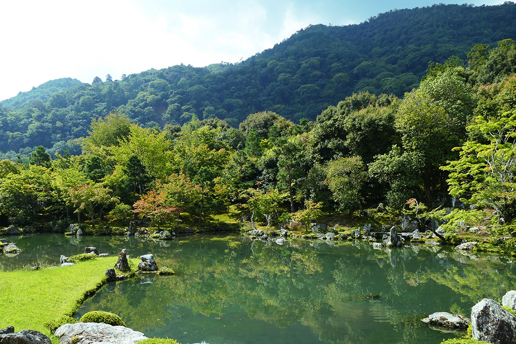 Sogenchi Pond at the Tenryuji Temple at Arashiyama,  to be visited on 4 Days Kyoto Treasure Box of Japan