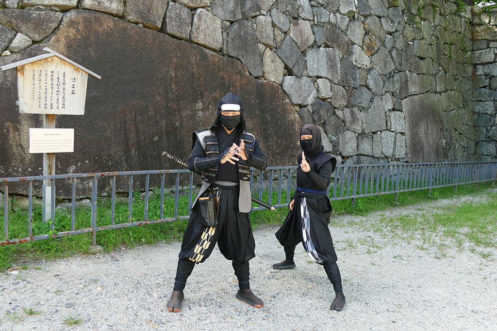 Ninjas guide you at the Castle of Nagoya, an ordinary city in Japan