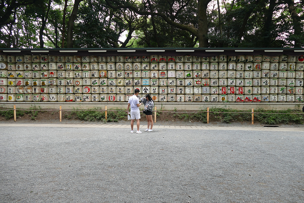 Sake Barrels at the Meiji Shrine in Tokyo