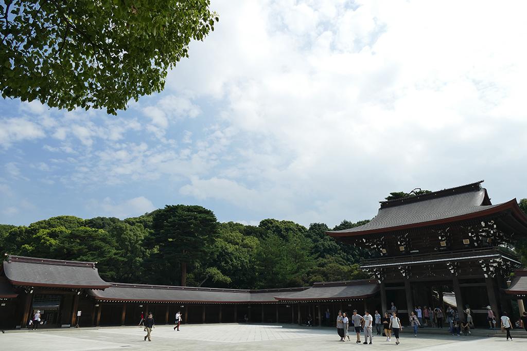 Inside the Meiji Shrine.