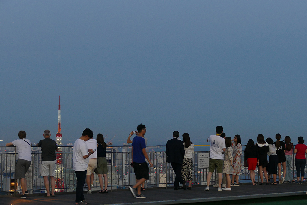 Rooftop of the Mori Gallery in Tokyo