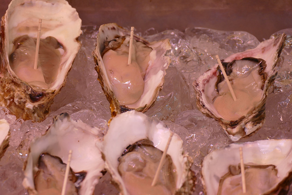 Oysters at the market in Tokyo