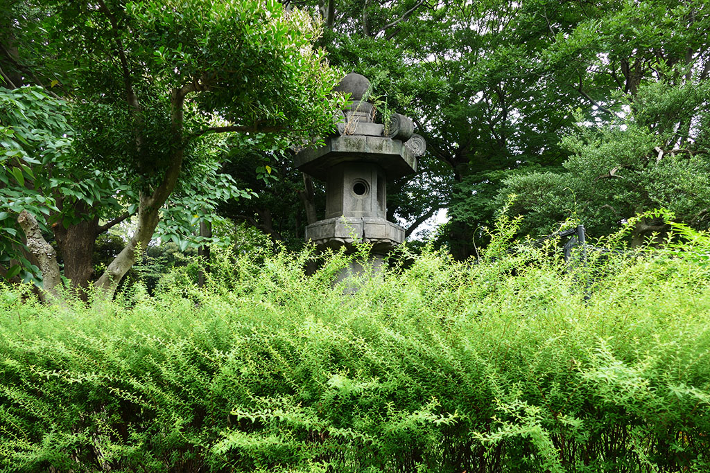 The Monster Lantern from the 17th century at the Ueno neighborhood in Tokyo