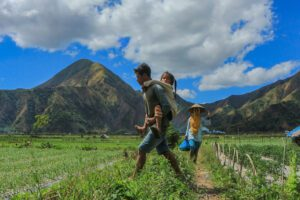 children on lombok, bali's serene alternative
