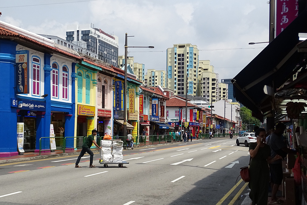 Little India Neighborhood in Singapore