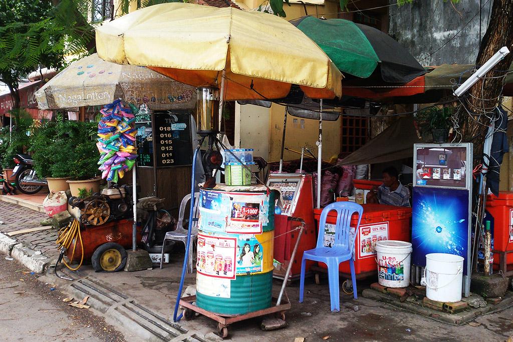 Gas Station in Phnom Penh Cambodia