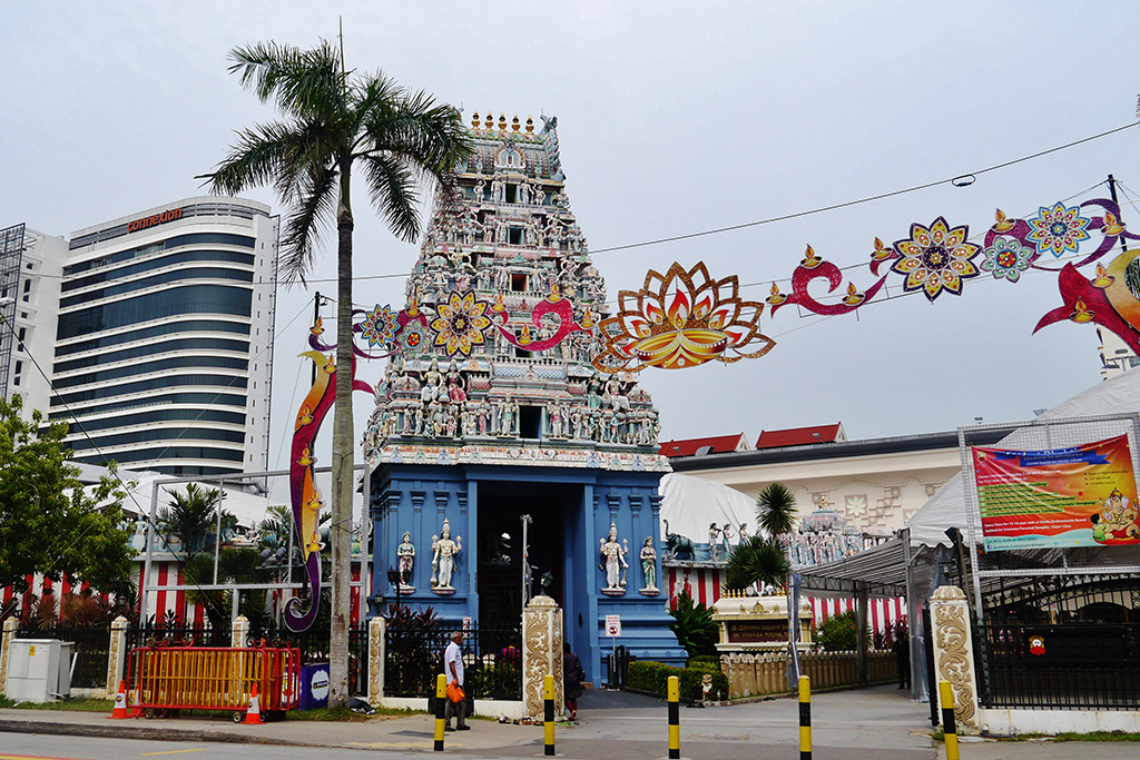 Sri Srinivasa Perumal Temple in Little India in Singapore, the powerful city-state