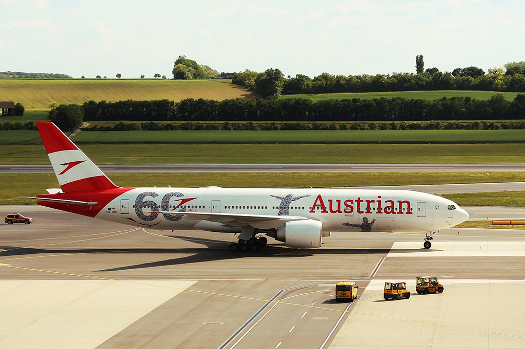 Plane by Austrian Airlines