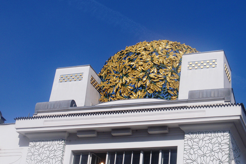 the spectacular building of the Vienna Secession by Joseph Maria Olbrich.
