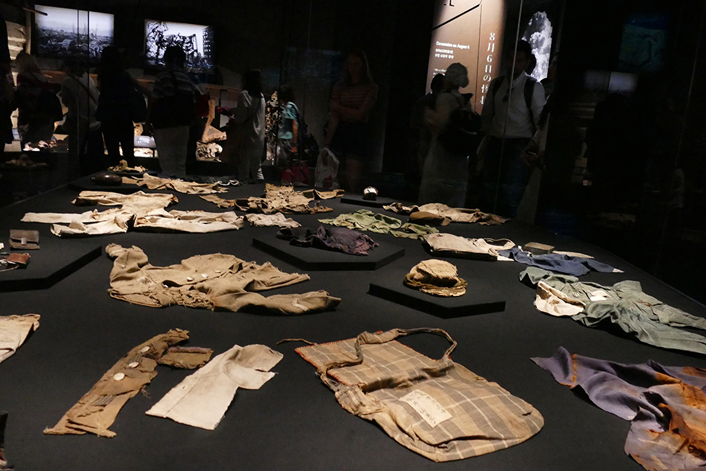 Exhibition of clothes that once belonged to the victims of the attack.