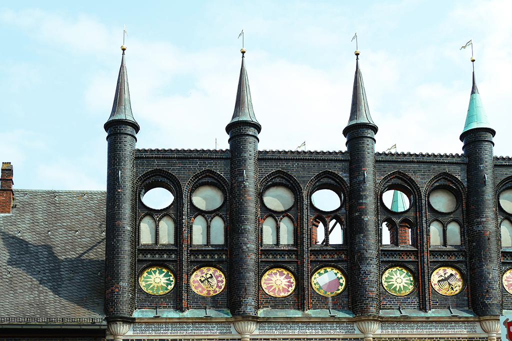 The medieval part of the Lübeck Town Hall.