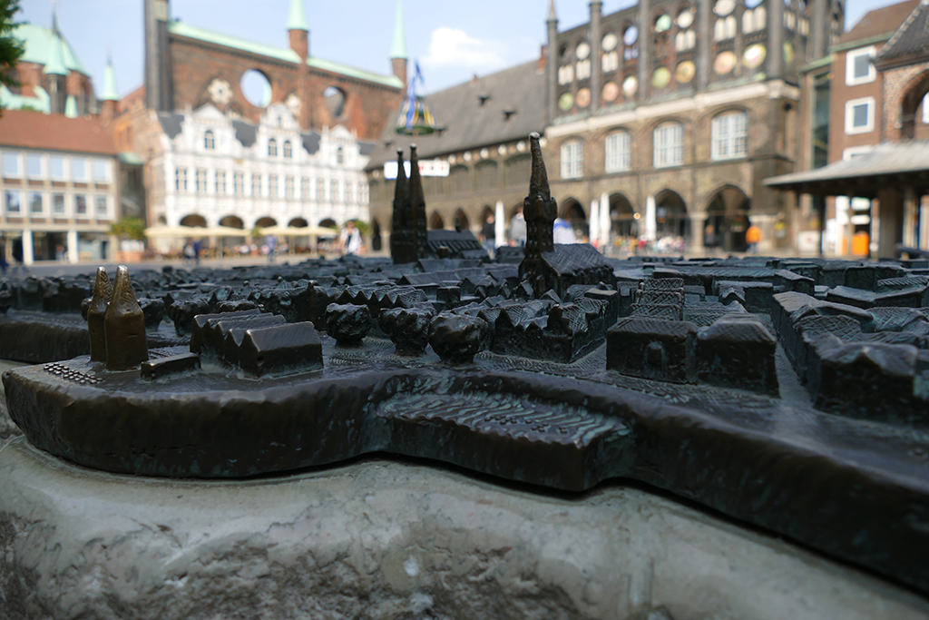 mockup depicting the historic center of Lübeck Germany's most ravishing city
