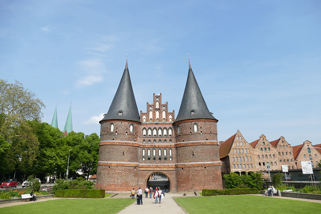 The old salt warehouses right next to the Holstentor in Lübeck Germany's most ravishing city