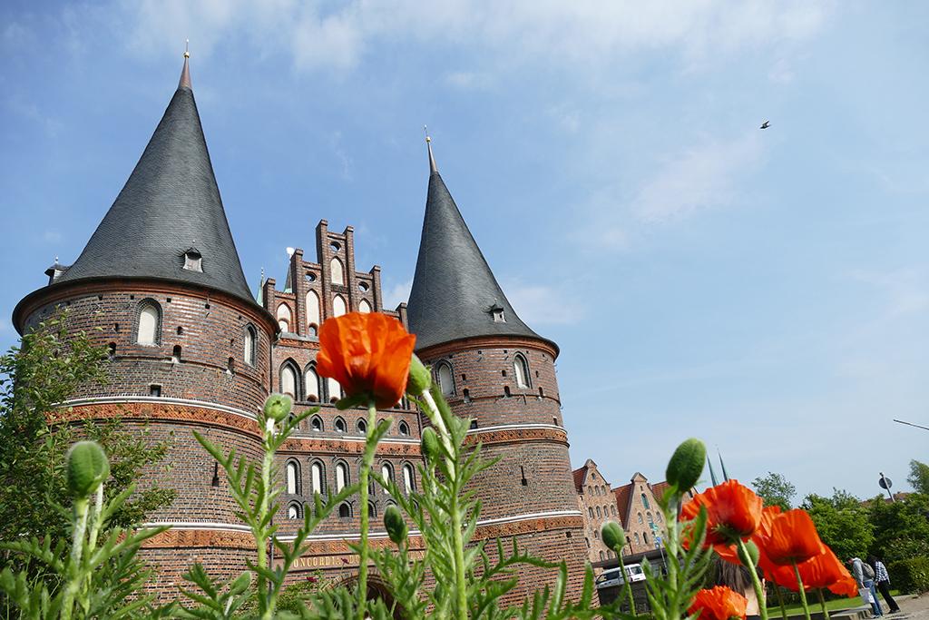 The epochal Holsten gate in Lübeck Germany's most ravishing city