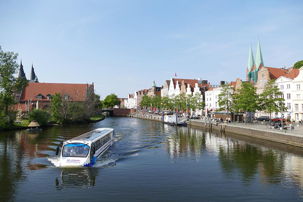 River Trave at Lübeck Germany's most ravishing city