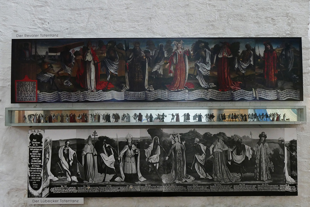 Different styles and interpretations of Lübeck's dance macabre.