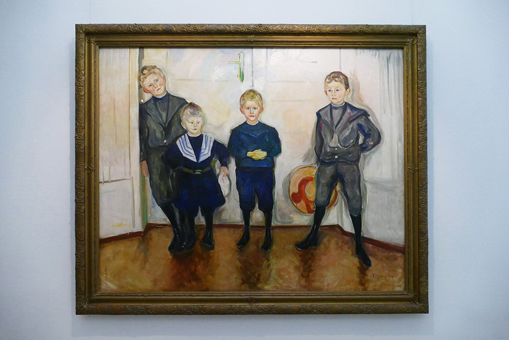 Dr. Max Linde's four sons painted by Edvard Munch.