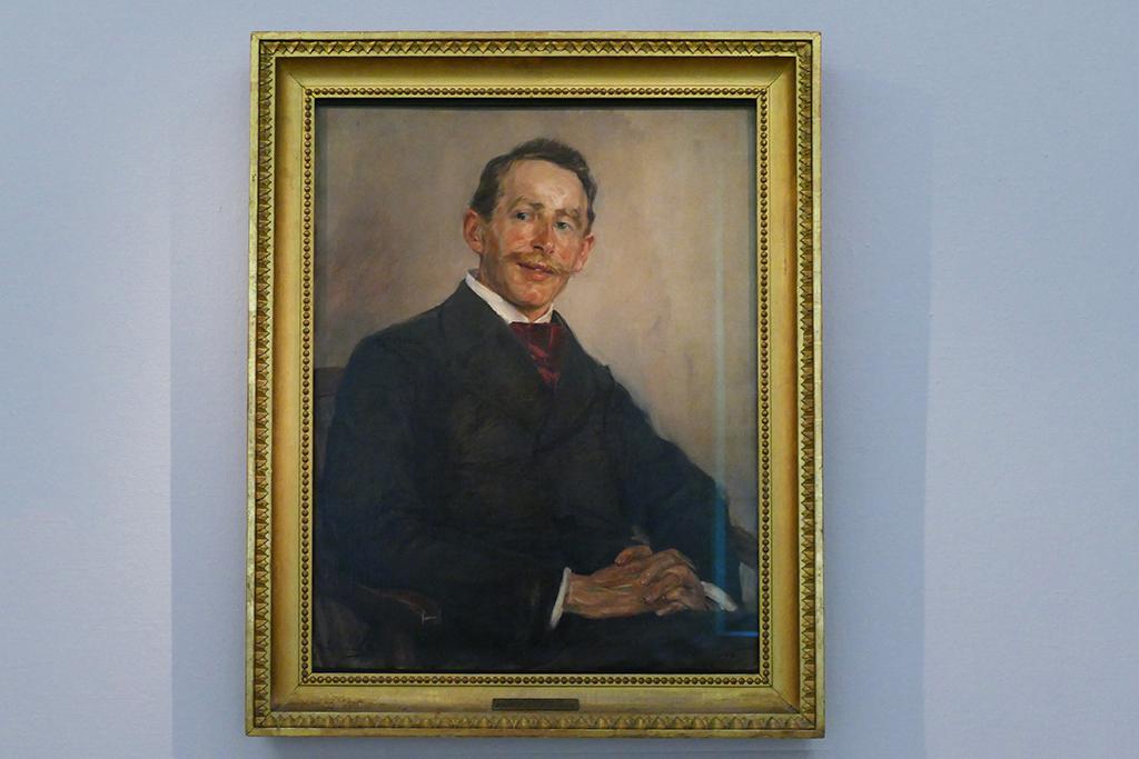 Dr. Max Linde depicted by North German impressionist Max Liebermann