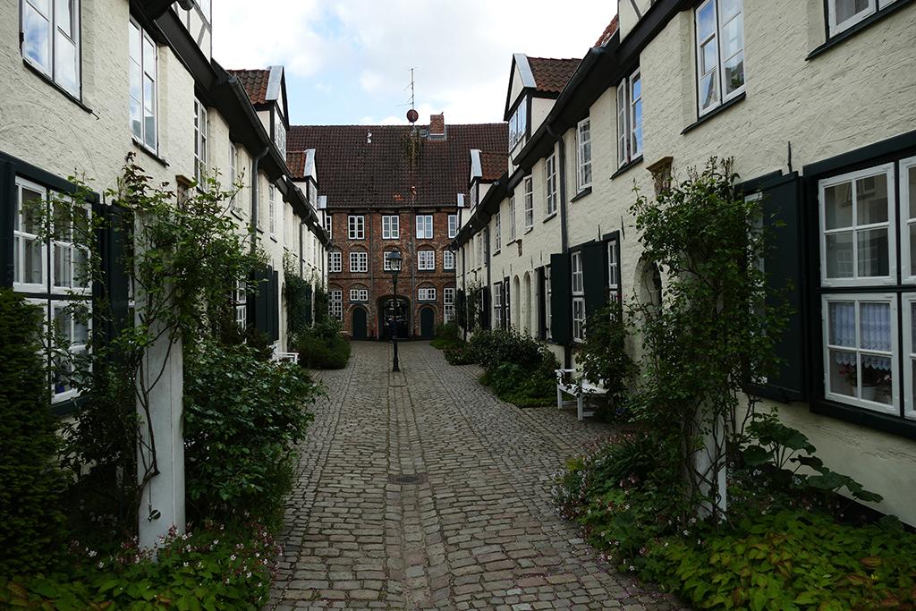 one of the court yards of ravishing Luebeck