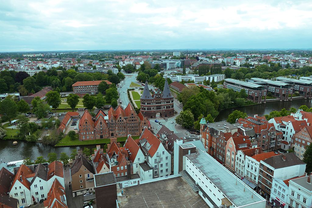 Panoramic View of Luebeck