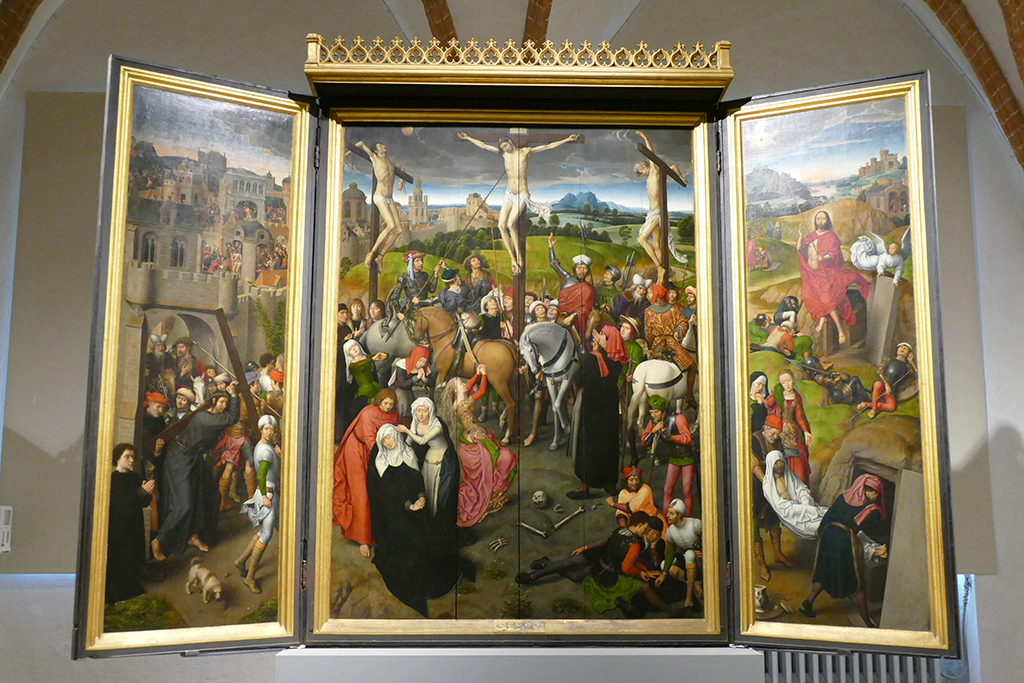 The Double Winged Passion Altarpiece by Hans Memling, a German Renaissance master.