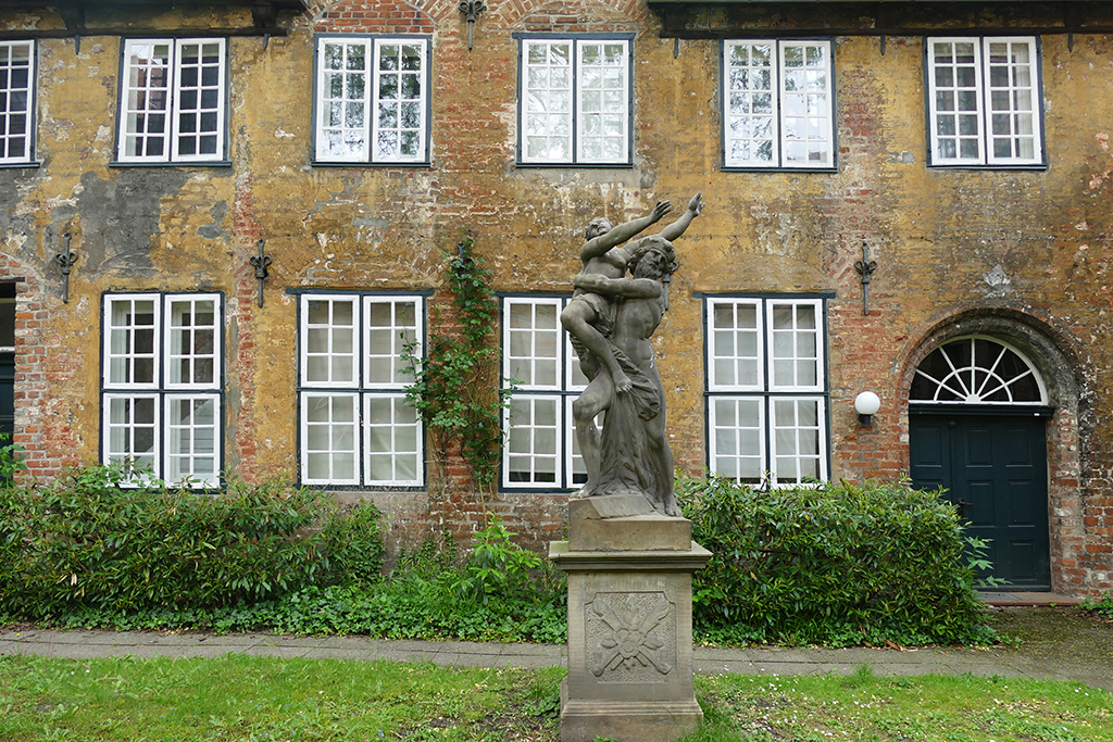 Statue at the St. Annen Museum in Lübeck