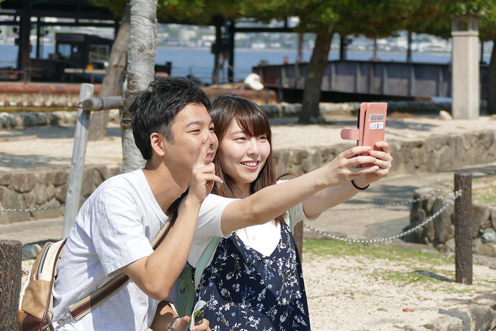 Japanese Couple on Miyajima