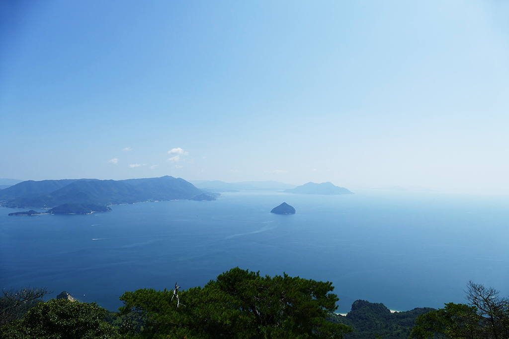 View of the islands scattered in the Hiroshima Bay.